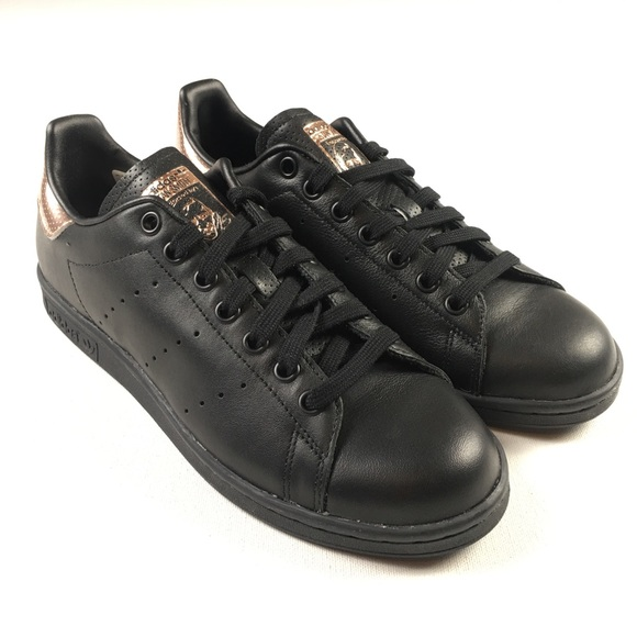 online store 5a742 aa59a Adidas Stan Smith Sneakers BB1433 Black Gold Shoes